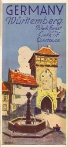 Vintage German poster - Nuremberg black forest and lake of Constance